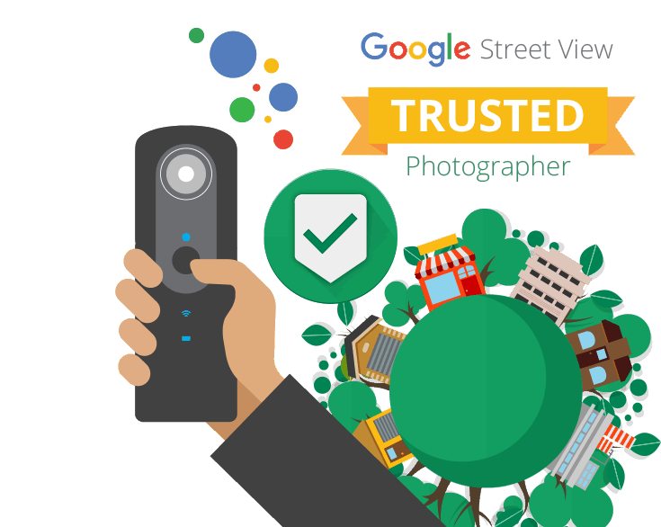 Google Street View Thrusted Photographer