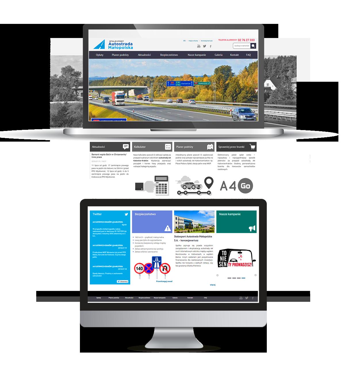 strona internetowa Autostrada A4 - realizacja IntraCOM.pl