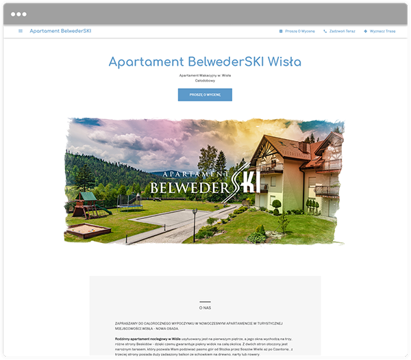 Konto Google dla Apartamentu BelwederSKI Wisła