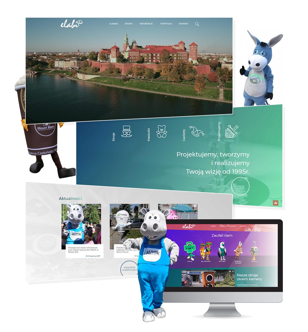strona internetowa producent stroi reklamowych - projektowanie