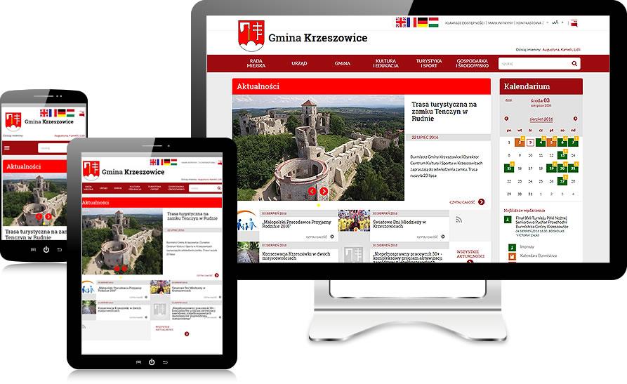 krzeszowice.pl - wersje responsywne