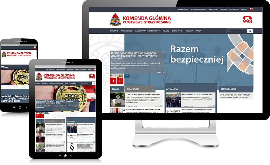 straz.gov.pl - wersje responsywne