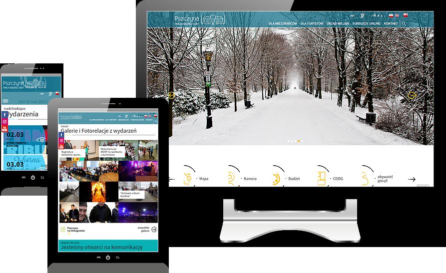 Strona internetowa Urzędu Miasta w Pszczynie