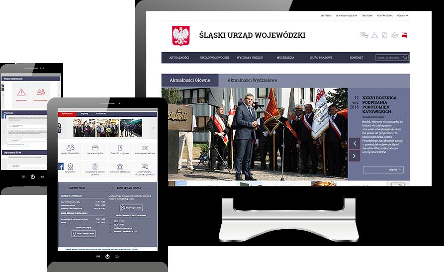katowice.uw.gov.pl - wersje responsywne Śląskiego Urzędu Wojewódzkiego w Katowicach