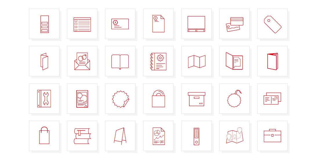 opracowanie ikony produktowe dla Drukarni WYDRUK