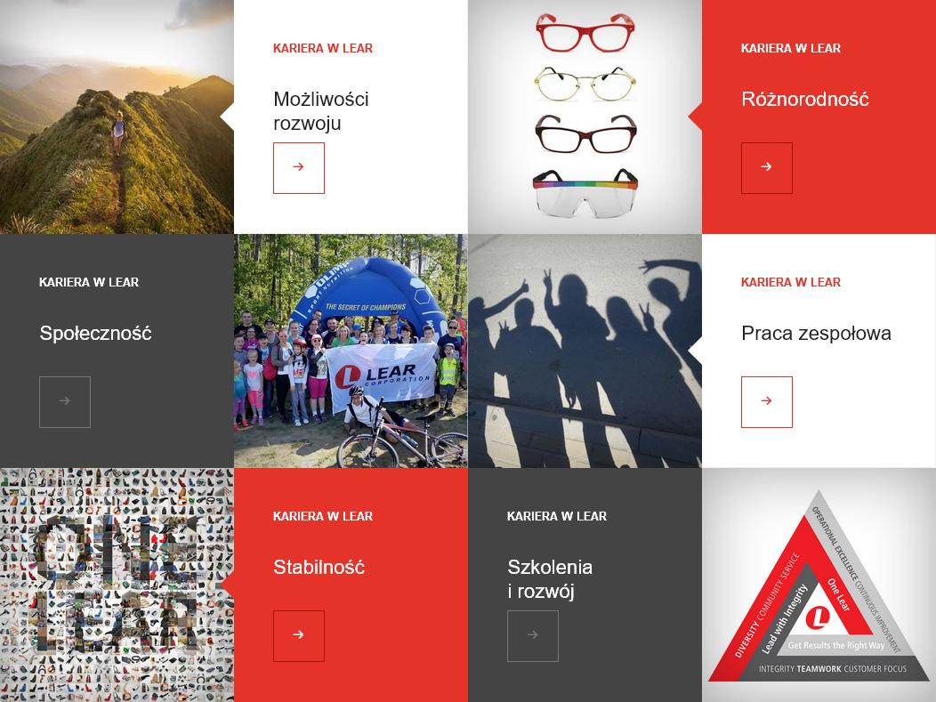strona internetowa dla tyskiej strefy ekonomicznej - Lear Corporation