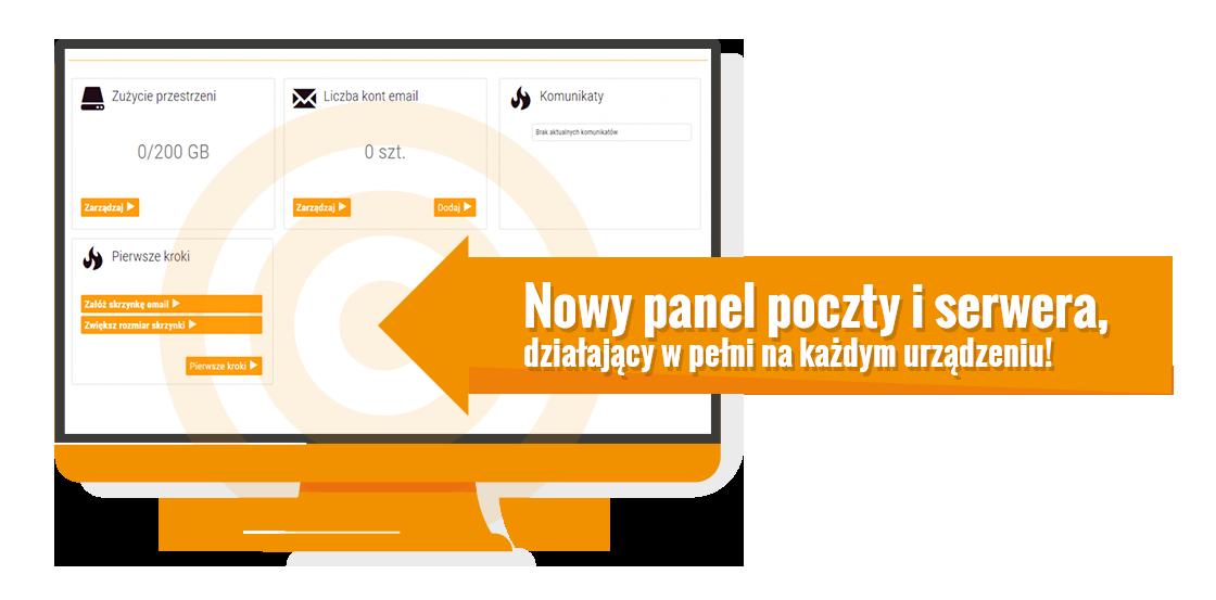 Nowy panel obsługi poczty i serwera WWW