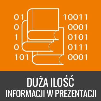 duża ilość informacji w prezentacji multimedialnej w przystępnej formie