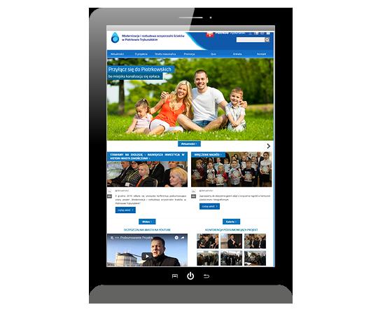 Przykład strony realizowanej dla Oczyszczalnia Piotrków Trybunalski