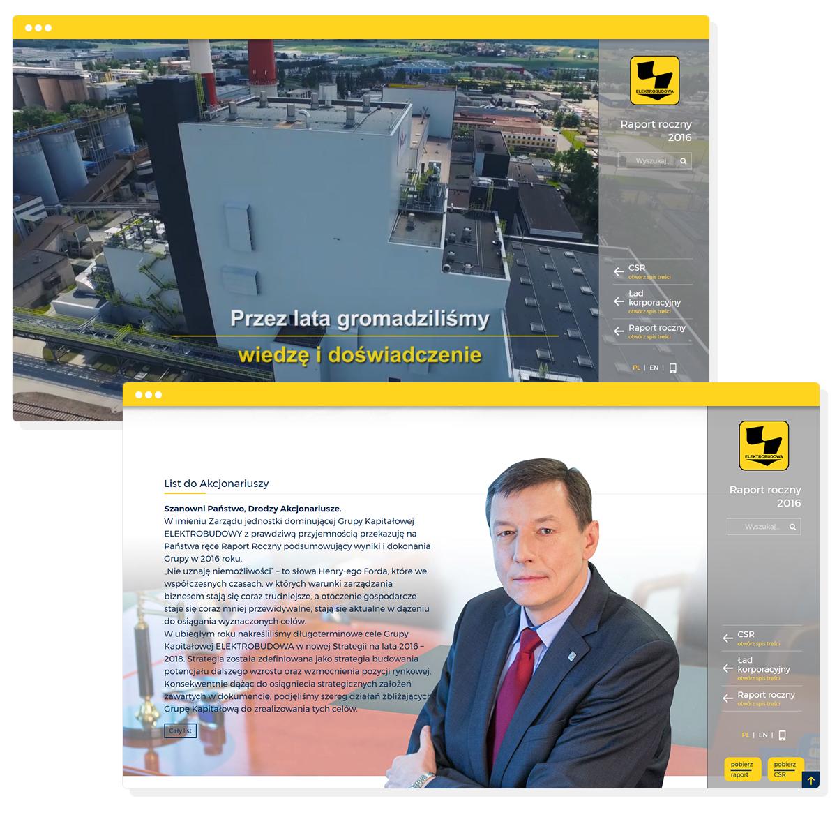raport roczny online - raport giełdowy projekt zintegrowany