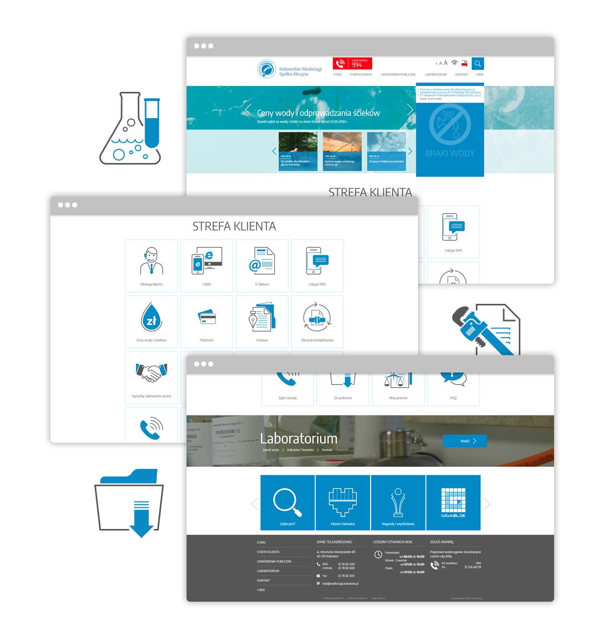projekt strony internetowej dla wodociągów katowickich